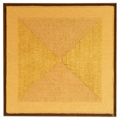 "Sophie Rowley ""Khadi Fray"" Contemporary Wall Tapestry, Ochre, Cotton, 2020"
