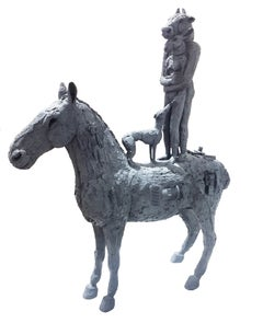 Standing Lovers on Horseback with Dog (B/17/12)