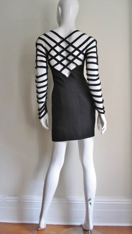 Sophie Sitbon Cage Sleeve Detailed Back Dress For Sale 5