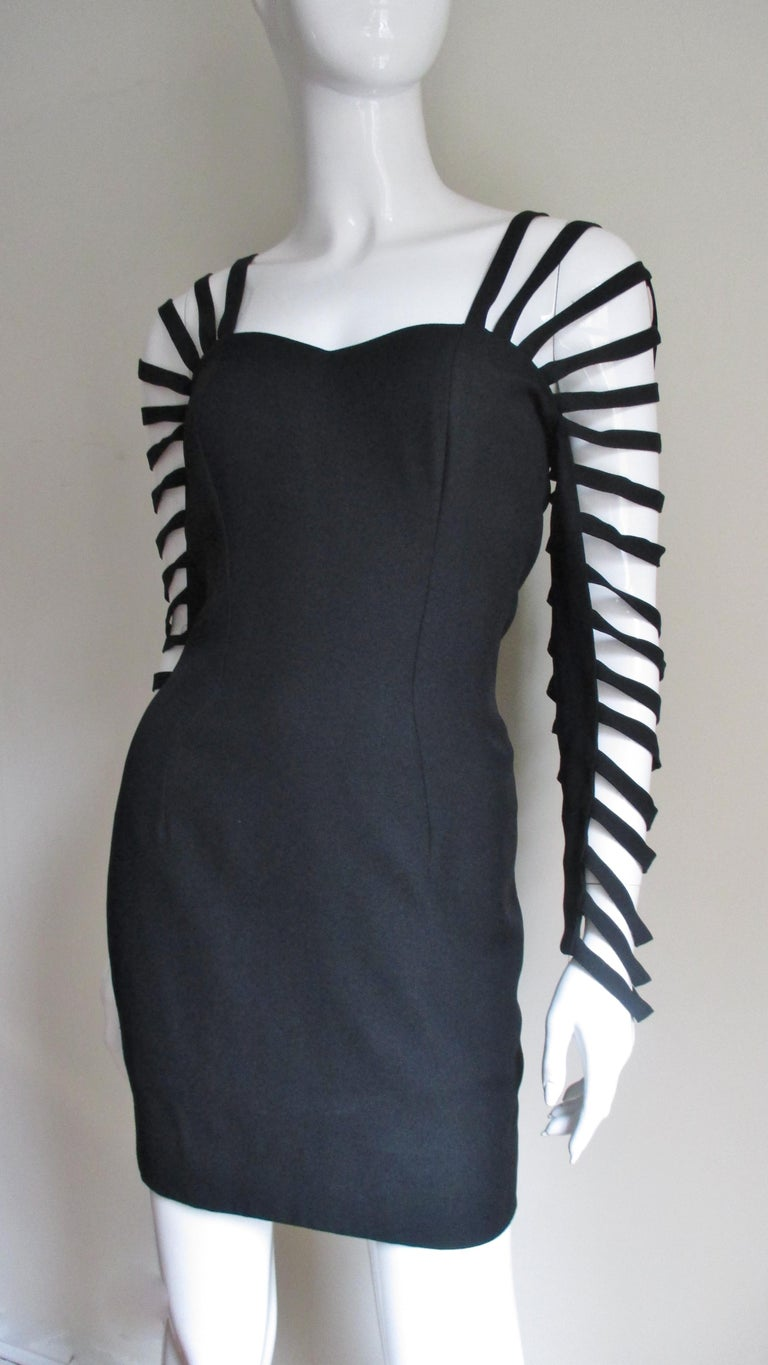 Sophie Sitbon Cage Sleeve Detailed Back Dress In Good Condition For Sale In Watermill, NY