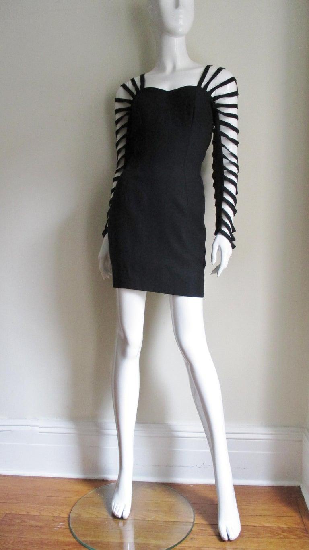 Sophie Sitbon Cage Sleeve Detailed Back Dress For Sale 1