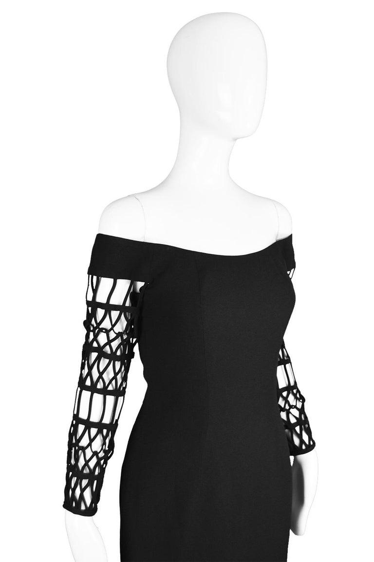 Sophie Sitbon Paris Vintage Bondage Sleeve Party Dress In Excellent Condition For Sale In Doncaster, South Yorkshire