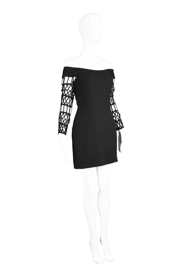 Women's Sophie Sitbon Paris Vintage Bondage Sleeve Party Dress For Sale