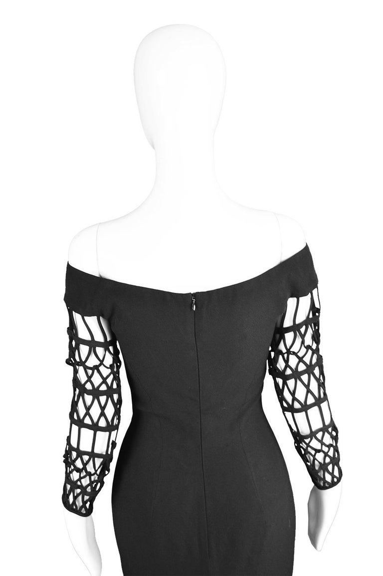 Sophie Sitbon Paris Vintage Bondage Sleeve Party Dress For Sale 1