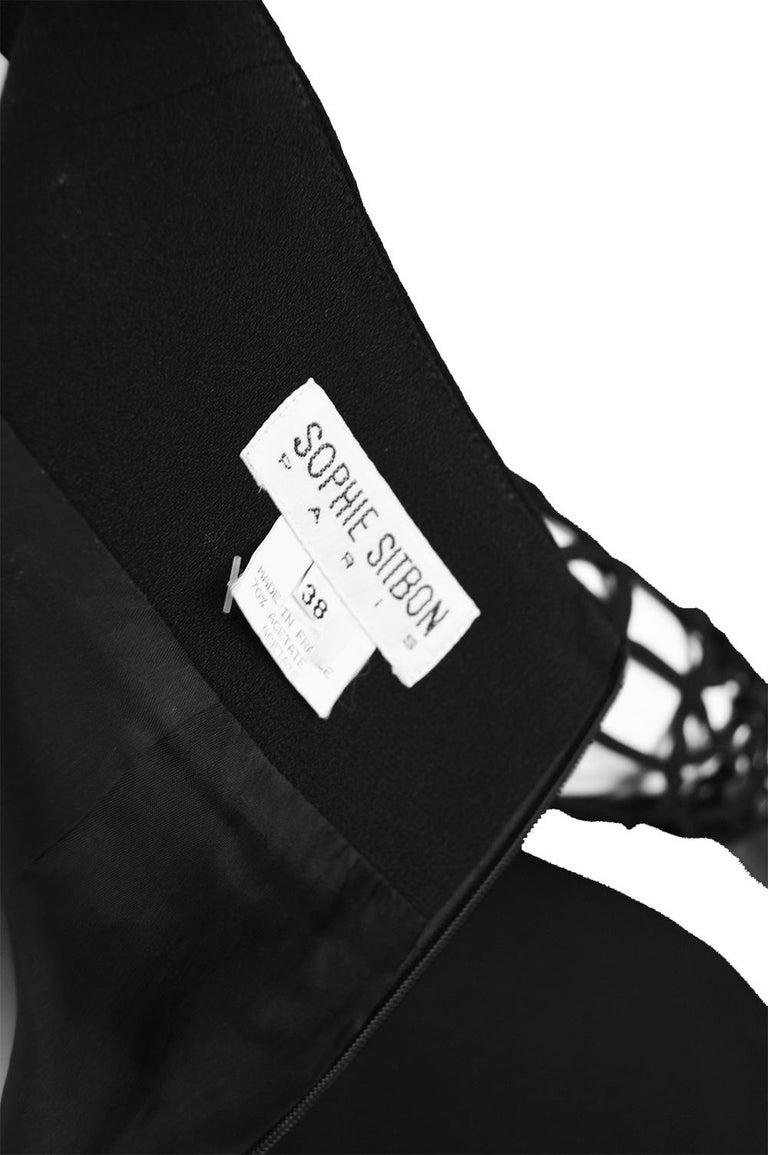 Sophie Sitbon Paris Vintage Bondage Sleeve Party Dress For Sale 2