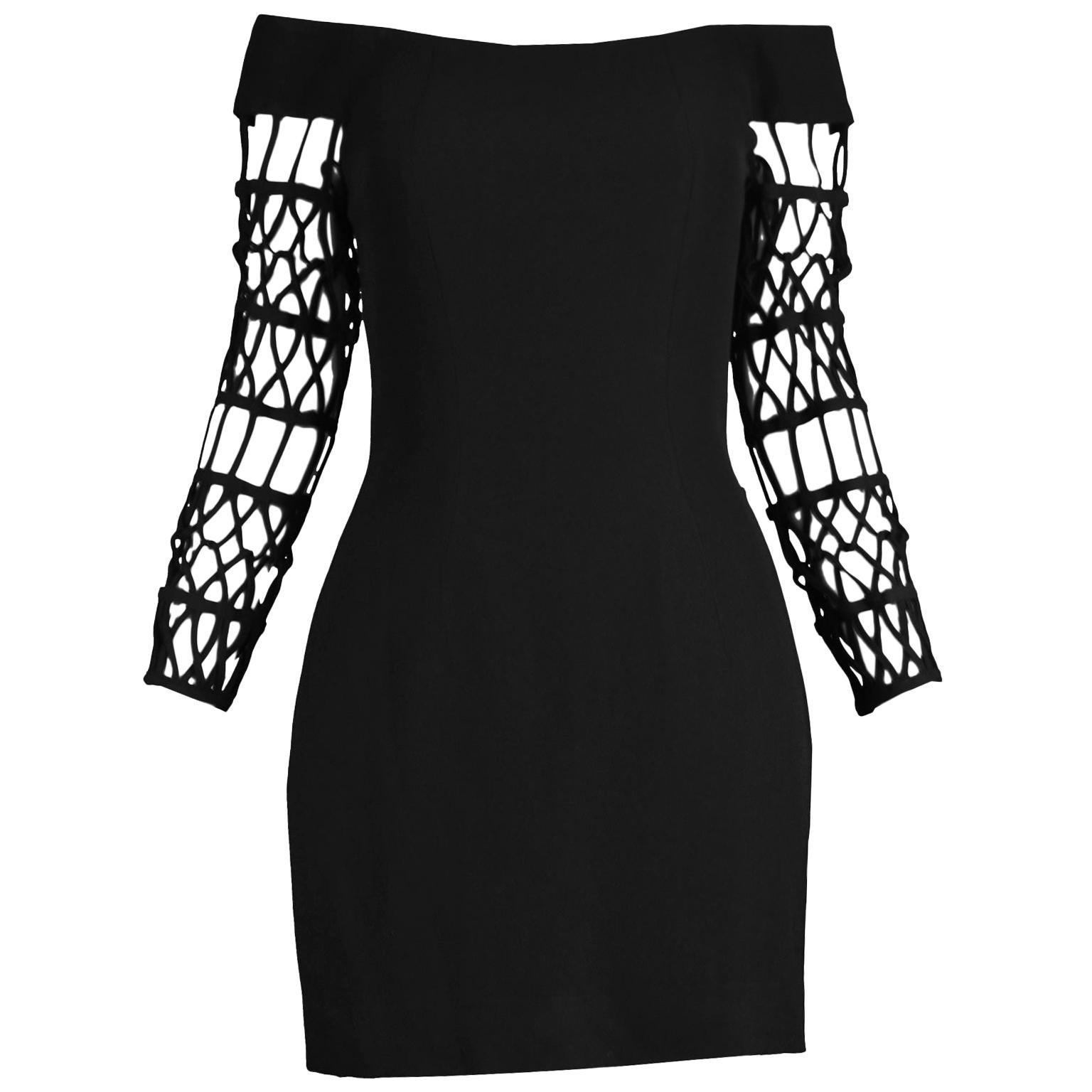 Sophie Sitbon Paris Vintage Bondage Sleeve Party Dress