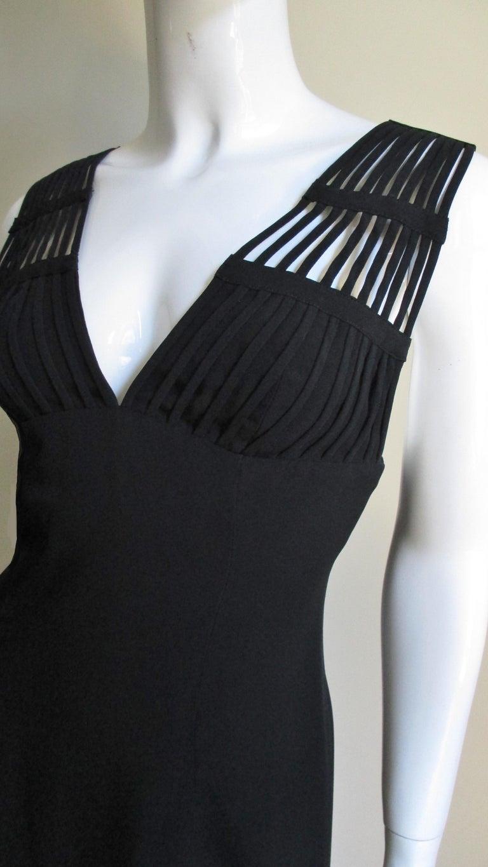 Black Sophie Sitbon Cage Shoulders Dress For Sale