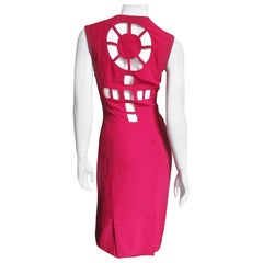 Sophie Stibon Circle Cut out Back Dress 1980s