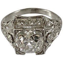 Sophisticated and Stylish Art Deco Solitaire Ring