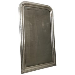 Sophisticated Antique French Louis Philippe Silver Gilt Mirror