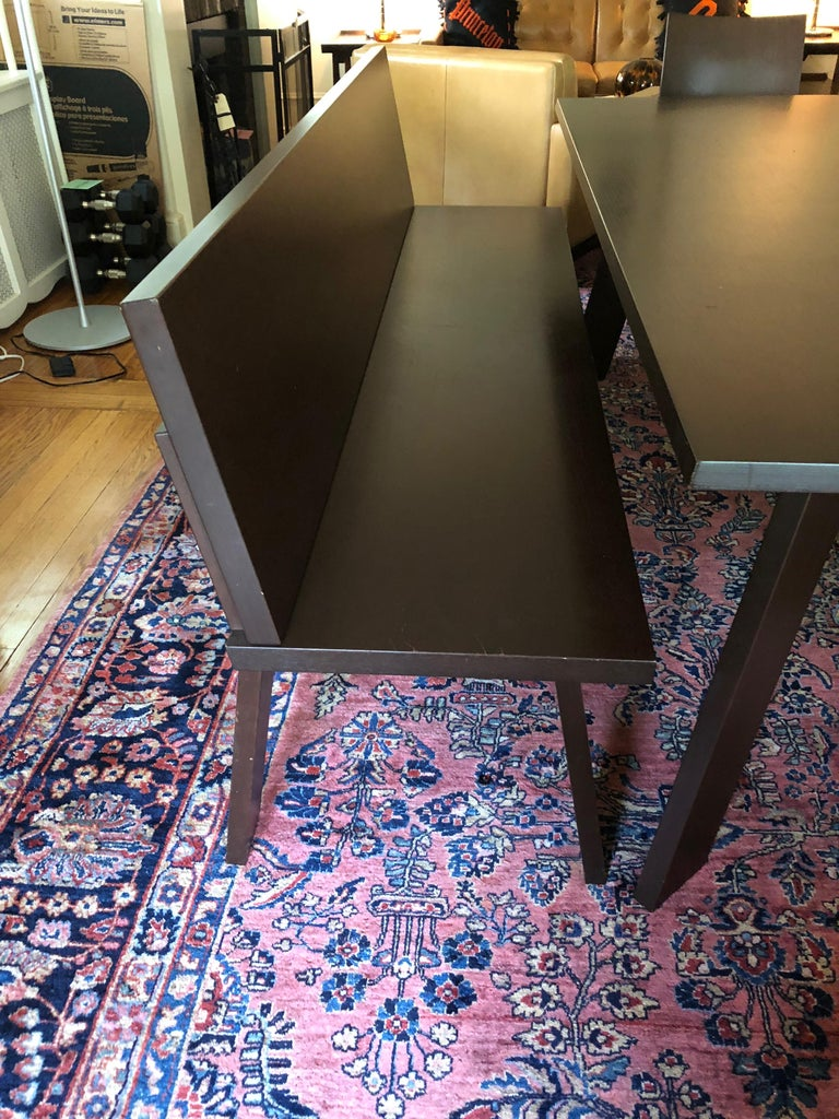 Sophisticated Bulthaup Dining Table with Two Benches and Two Armchairs For Sale 4