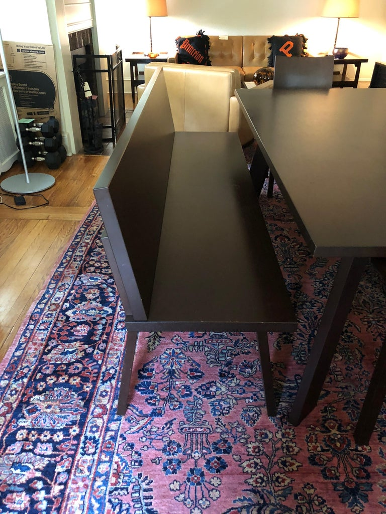 German Sophisticated Bulthaup Dining Table with Two Benches and Two Armchairs For Sale
