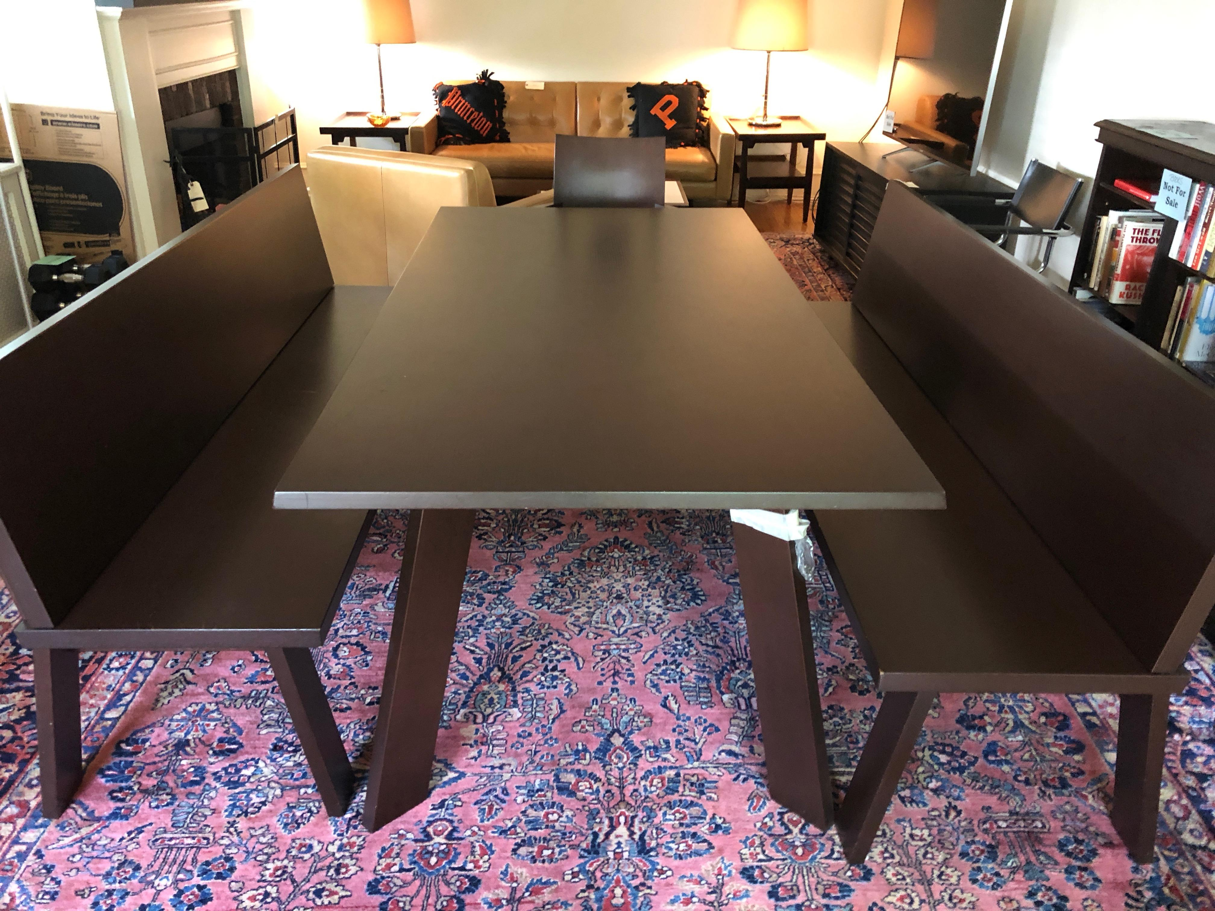 Incredible Sophisticated Bulthaup Dining Table With Two Benches And Two Armchairs Gmtry Best Dining Table And Chair Ideas Images Gmtryco