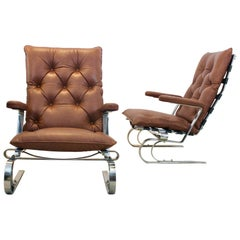 Sophisticated COR Leather Lounge Chairs