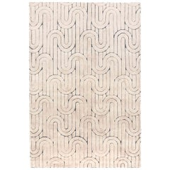 Sophisticated Customizable Reality Weave Rug in Cream X-Large