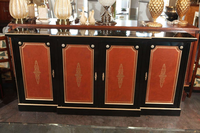 Sophisticated French Credenza, Signed Hirsch, Paris. 
