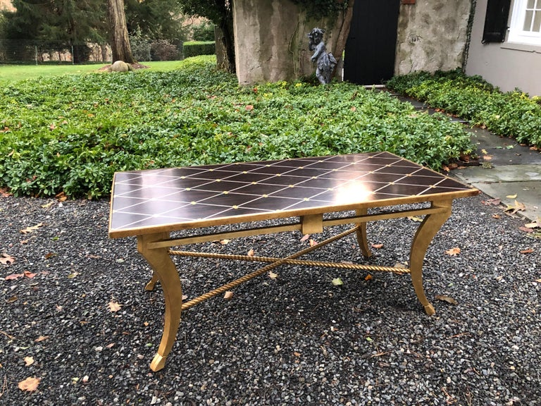 Sophisticated Inlaid Wood Coffee Table by Amy Howard For Sale 7