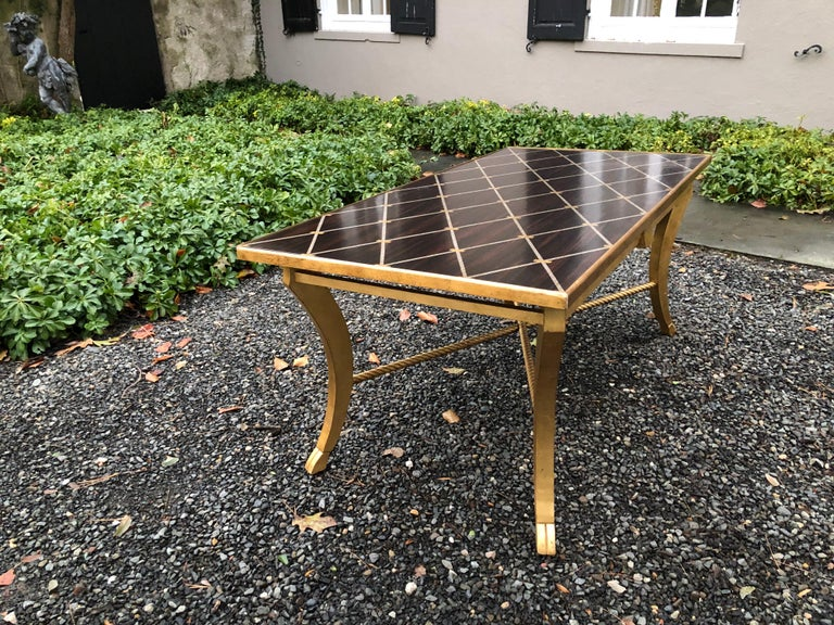 Sophisticated Inlaid Wood Coffee Table by Amy Howard For Sale 8