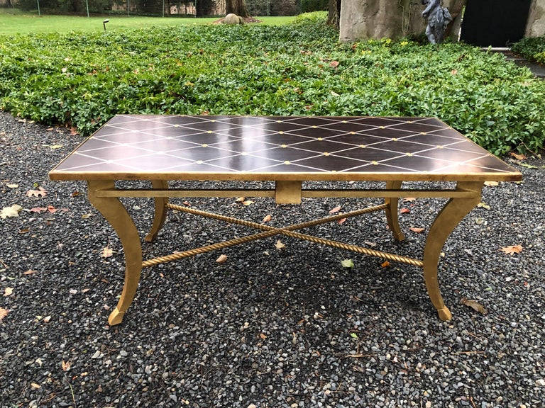 Modern Sophisticated Inlaid Wood Coffee Table by Amy Howard For Sale
