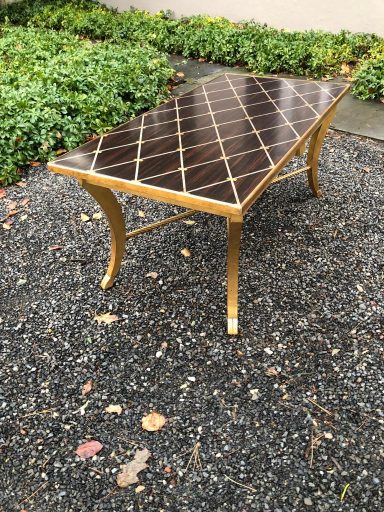 Sophisticated Inlaid Wood Coffee Table by Amy Howard For Sale 2
