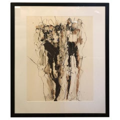 Sophisticated Large Limited Edition Signed Contemporary Figural Abstract Art