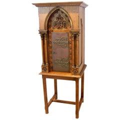 Sophisticated Oak Church Tabernacle Cabinet