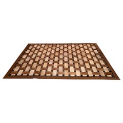 Sophisticated Patchwork Cowhide Area Rug