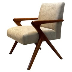 Sophisticated Sculptural Scissor Lounge Chair Midcentury Mexico 1950s  Modern