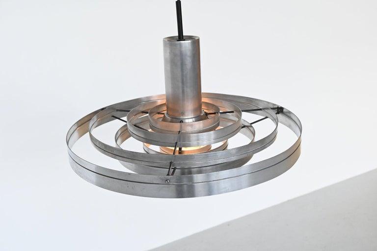 Mid-Century Modern Sophus Frandsen Fibonacci Pendant Lamp Fog & Morup, Denmark, 1963