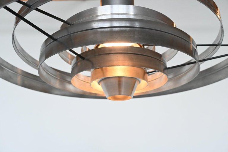 Brushed Sophus Frandsen Fibonacci Pendant Lamp Fog & Morup, Denmark, 1963
