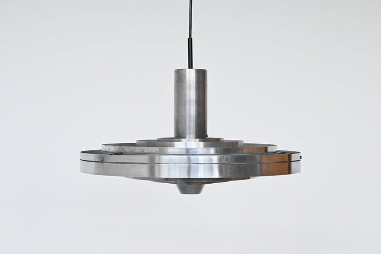 Aluminum Sophus Frandsen Fibonacci Pendant Lamp Fog & Morup, Denmark, 1963