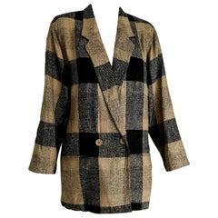 "SOPRANI ""New"" Beige Brown Silk and Wool Jacket - Unworn"