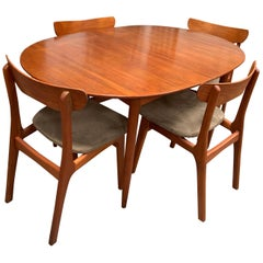 Sorø Stolefabrik Mid-Century Dining Set with Chairs
