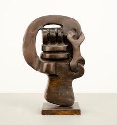 Keyhead IV, Modern, Abstract, Geometric, Biomorphic, Sculpture