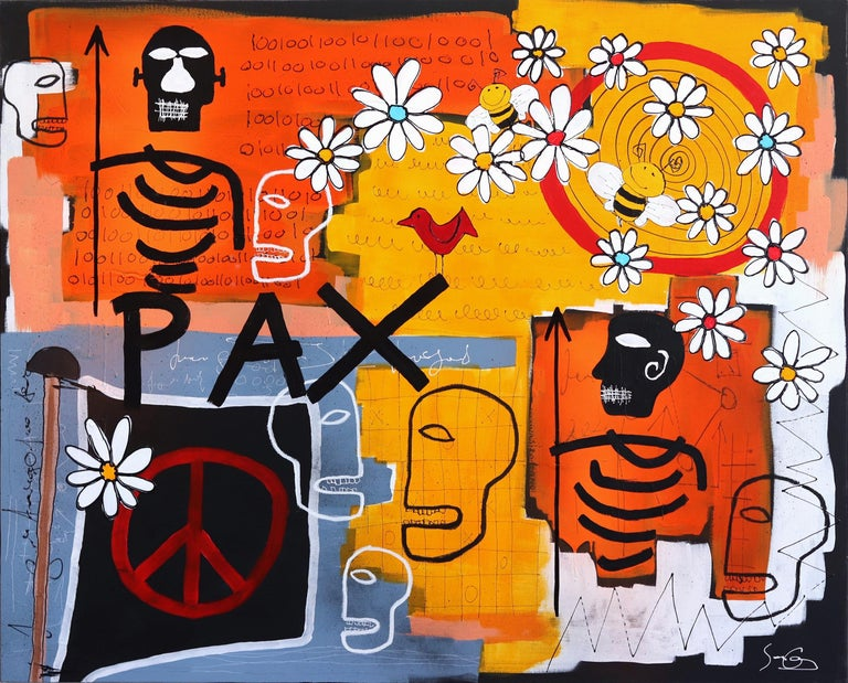 Pax - Mixed Media Art by Soren Grau
