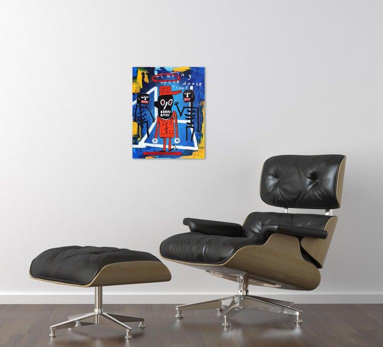 Tearing Up the Dancefloor - Neo-Expressionist Mixed Media Art by Soren Grau