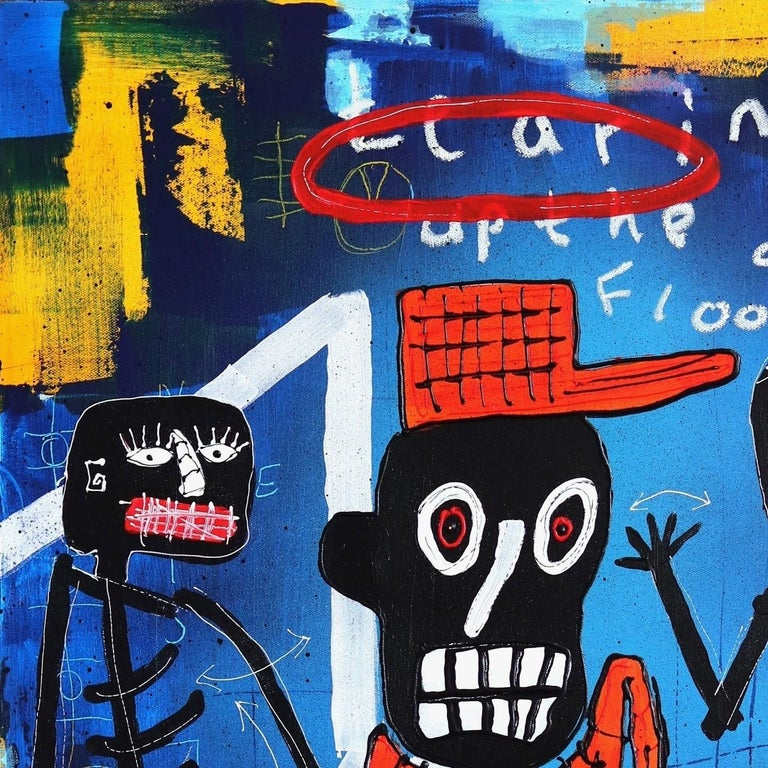 With cultural icons and world events acting as inspiration, artist Soren Grau strives to communicate meaning through figures and colors. He paints in a street art-inspired Neo-expressionist style inspired by artists such as Keith Haring and