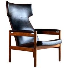 Soren Hansen Model 4365 Wing Chair for Fritz Hansen, Denmark, 1960s