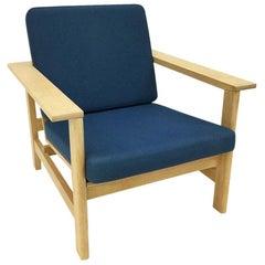 Soren Holst Oak Lounge Chair for A/S Fredericia Stolefabrik Denmark, 1980s