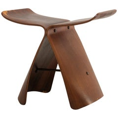 "Sori Yanagi ""Butterfly"" Stool for Tendo Mokko, Early Production, Japan"