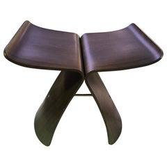 Sori Yanagi Japanese Designer Mid-Century Signed Bent Rosewood Butterfly Stool