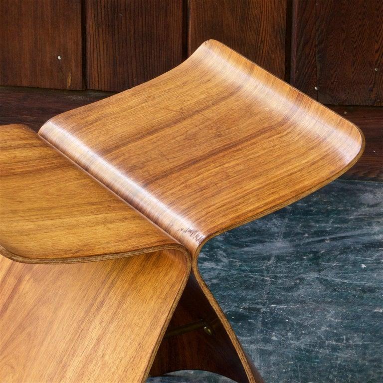 Sori Yanagi Rosewood Butterfly Stool Japanese Midcentury Architect Design For Sale 4