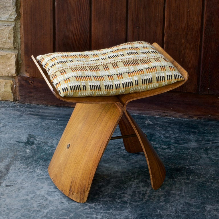 Mid-Century Modern Sori Yanagi Rosewood Butterfly Stool Japanese Midcentury Architect Design For Sale