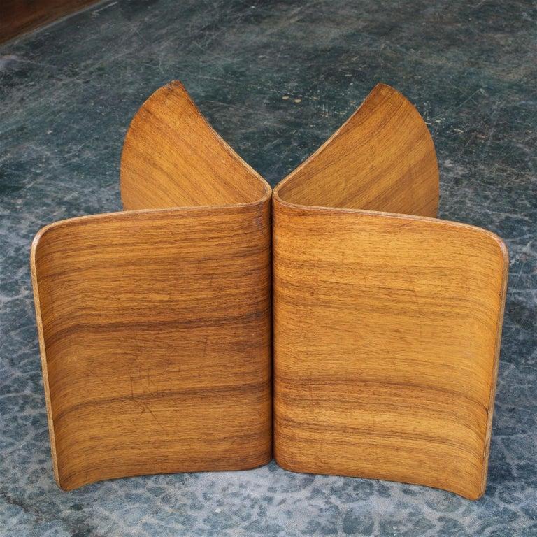 Sori Yanagi Rosewood Butterfly Stool Japanese Midcentury Architect Design For Sale 3