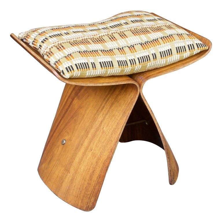 Sori Yanagi Rosewood Butterfly Stool Japanese Midcentury Architect Design For Sale