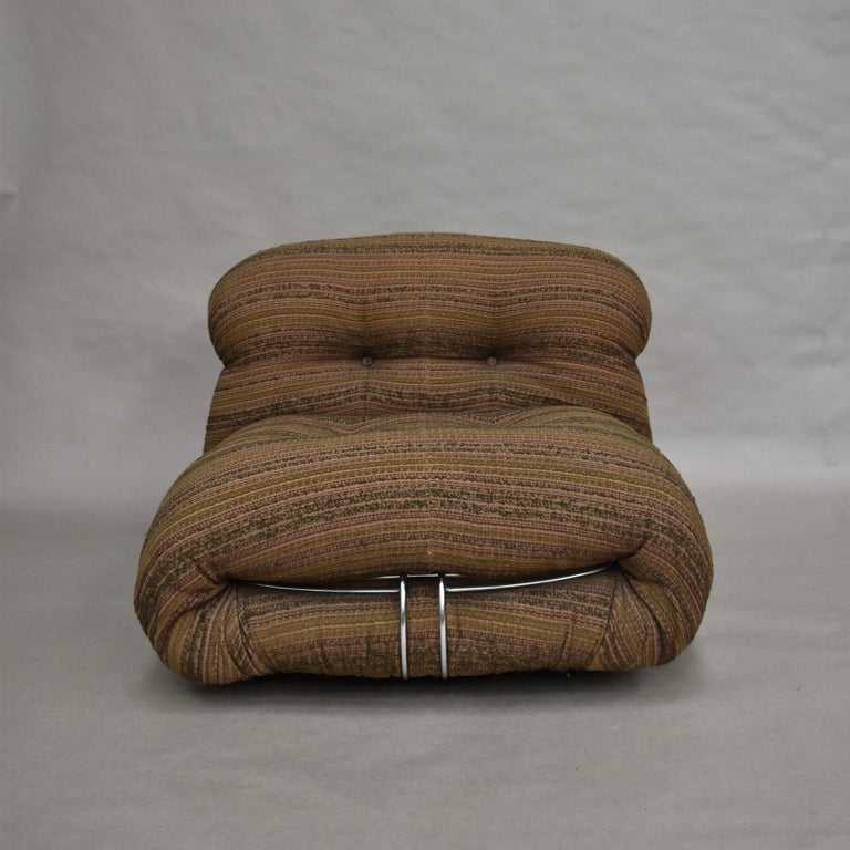 Late 20th Century Soriana Chairs and Ottoman by Afra & Tobia Scarpa for Cassina, Italy For Sale