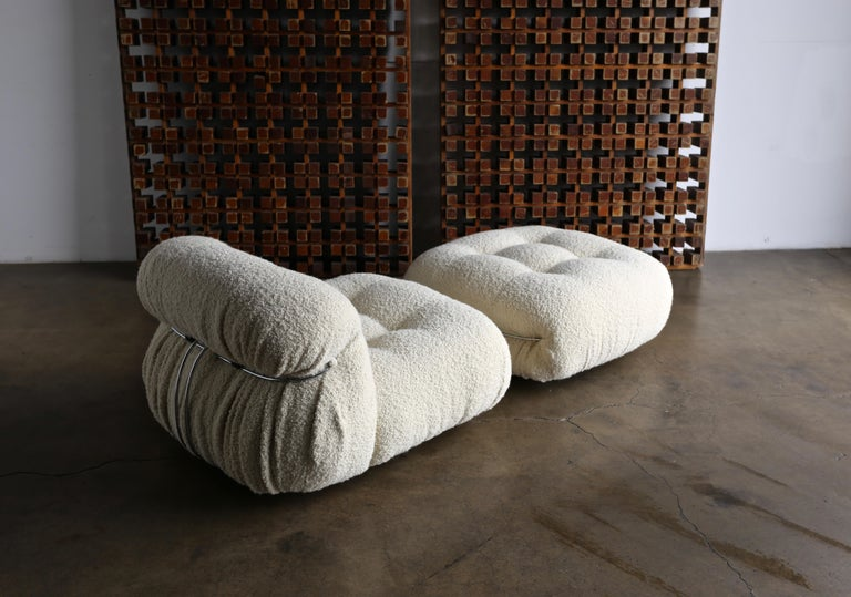 Soriana Lounge Chair and Ottoman by Afra & Tobia Scarpa for Cassina For Sale 5