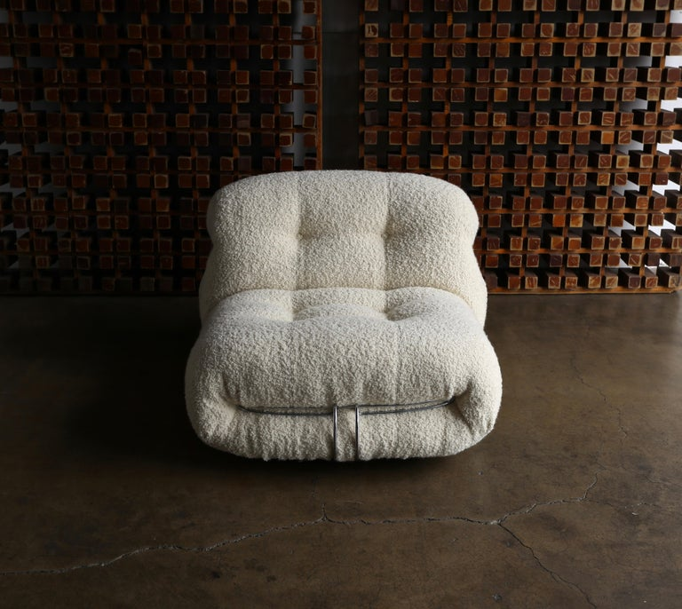 Soriana Lounge Chair and Ottoman by Afra & Tobia Scarpa for Cassina For Sale 7