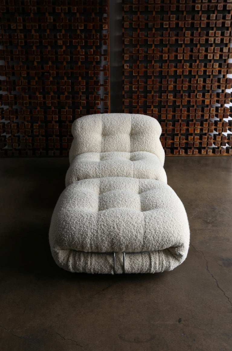 Soriana Lounge Chair and Ottoman by Afra & Tobia Scarpa for Cassina For Sale 8