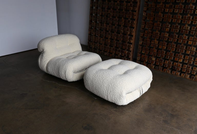 Soriana Lounge Chair and Ottoman by Afra & Tobia Scarpa for Cassina For Sale 1